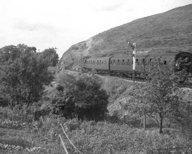 Train on the Swanage branch