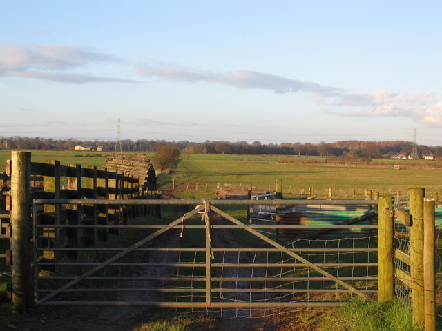 Farmland on the Eden floodplain