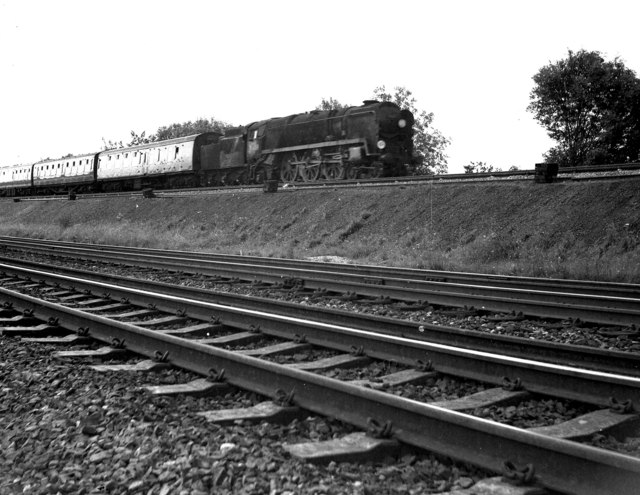 Steam and speed at Worting Junction, Hampshire