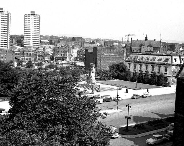 The Cenotaph and Memorial Gardens, Rochdale, Lancashire