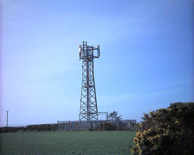Telecommunications mast at Chwilog