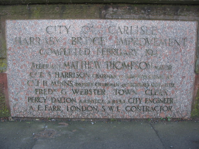 Inscription on Harraby Bridge