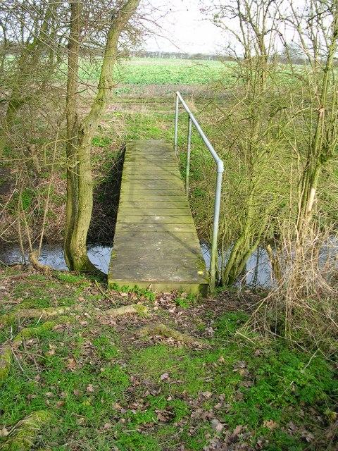 Nice bridge on a nice flat path.