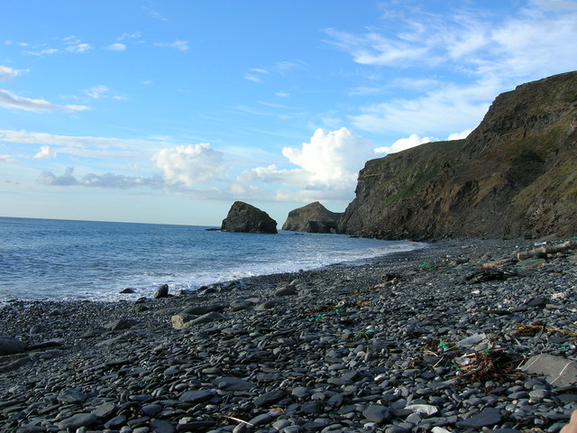 Samphire Rock viewed from The Strangles Beach