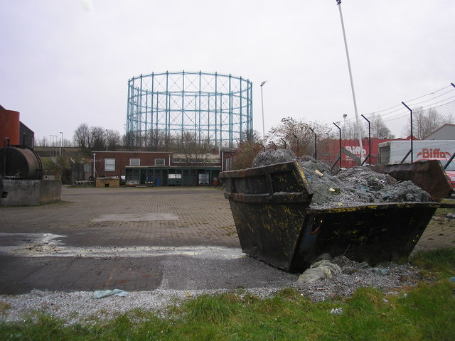 Gasometer and Industrial Waste