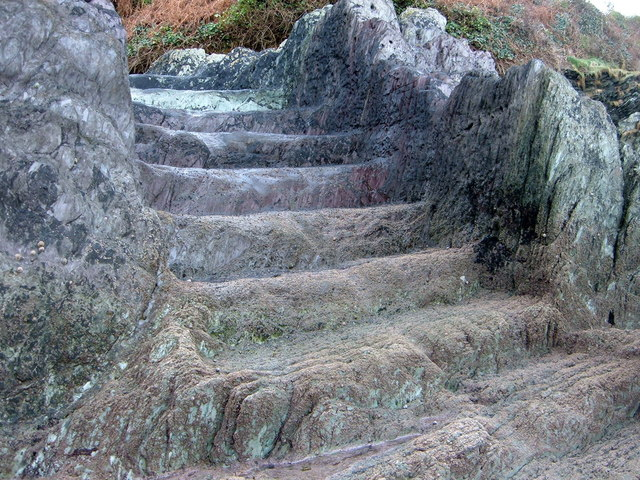Steps carved out of Rock at Long Cove