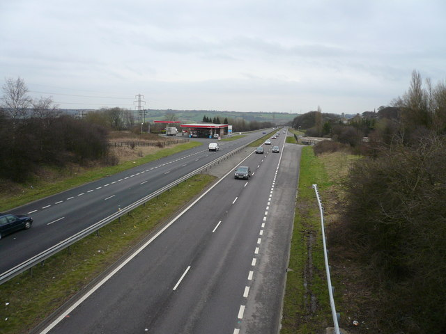 Hasland Bypass (A617) - View towards M1 Junction 29