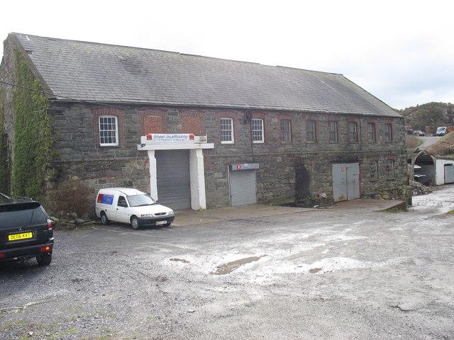 The former main building of the Glandinorwig Slate Works (Melin Sam)