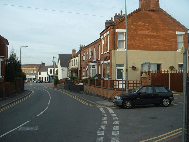 Looking down Shilton Road towards Top Town