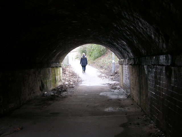 Tunnel under the railway at Handforth