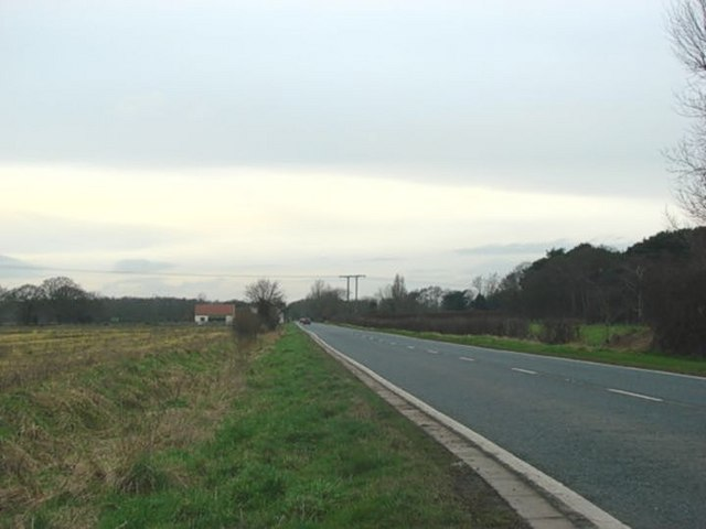 The A163, looking west