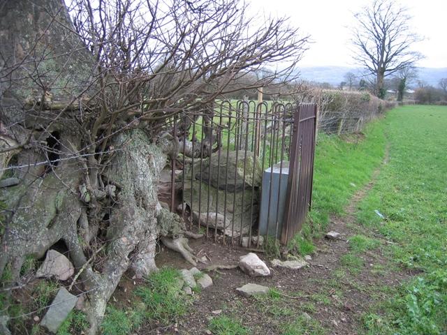 Memorial Stone near Llangwyfan #1