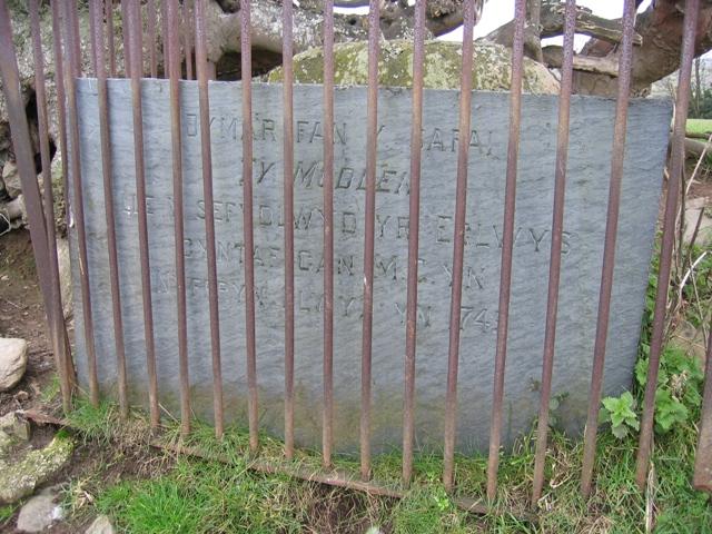 Memorial Stone near Llangwyfan #3