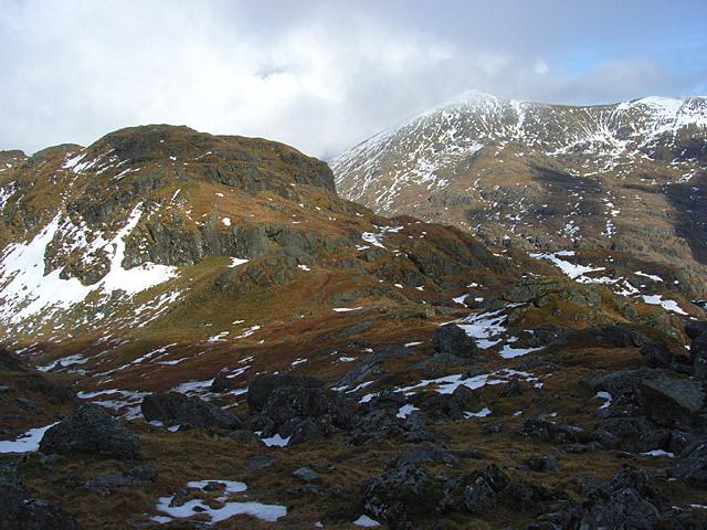 Bealach between Stob Garbh and Cruach Ardrain