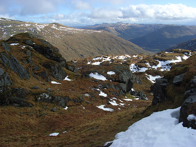 On the flank of Stob Garbh