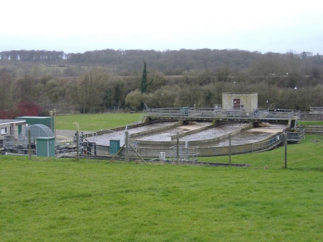 Sewage works, Huntingford