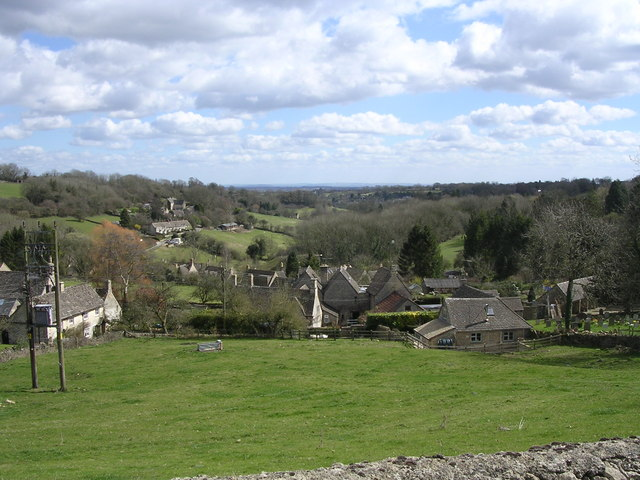 View of Chedworth from Church Graveyard