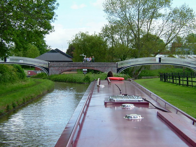 Braunston Canal Junction bridges from Oxford Canal