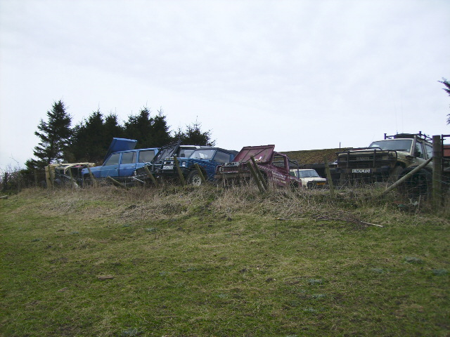 Scrapped 4X4 vehicles in the North York Moors National Park