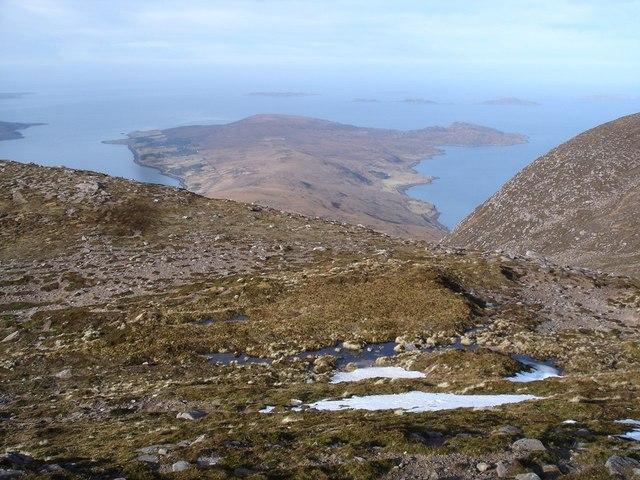 From Beinn Ghobhlach towards Cailleach Head