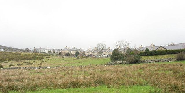 Looking across Ffridd Gel towards the Pentre Helen Estate