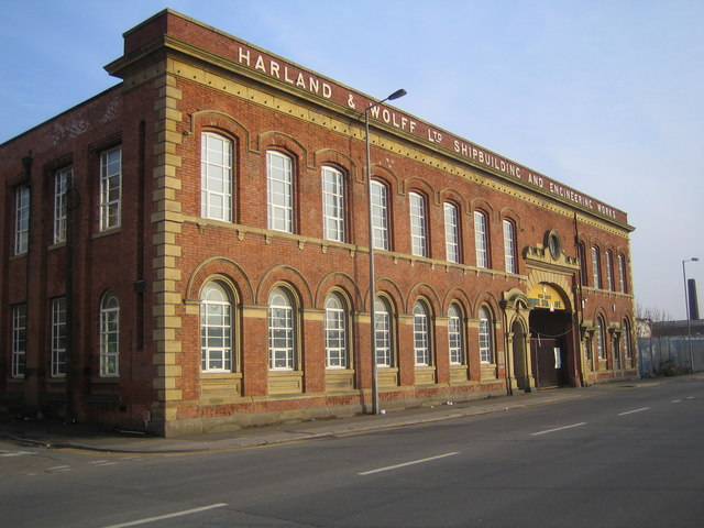Bootle: Harland & Wolff  Works building, Dock Road