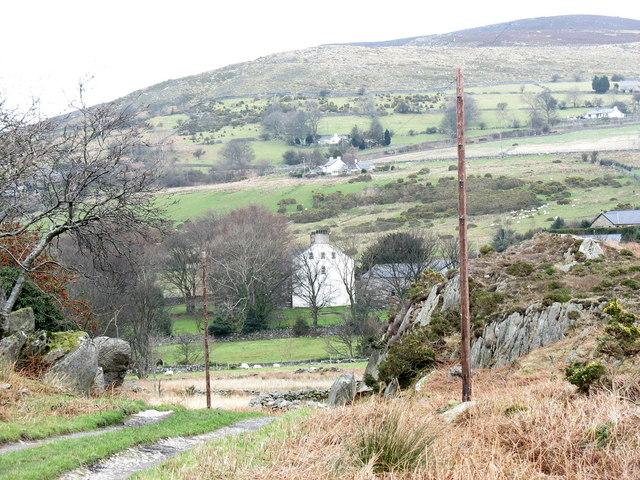 Plas Eryr from the Rhianfa farm road