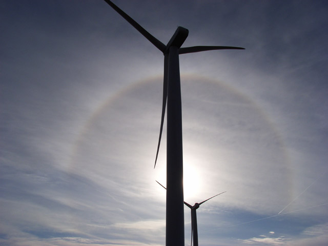 Turbines and a halo, Hart Hill