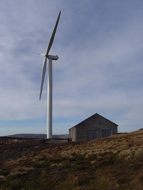 Turbine and hut, Hart Hill