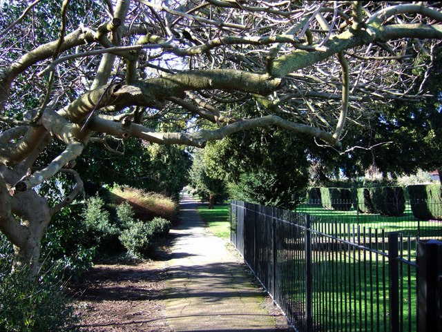 Walkway in Pince's Gardens, Exeter