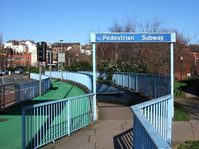 Entrance to subway, Exe Bridges