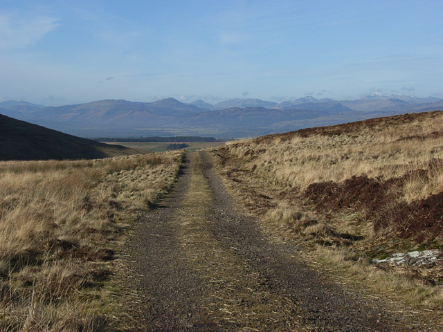 Track, above the Spout of Ballochleam