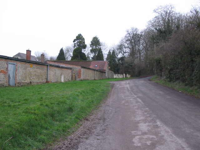 Approaching Parsonage Farm
