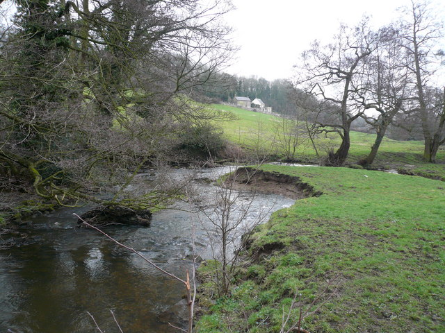 River Amber - View towards Hockley Lane