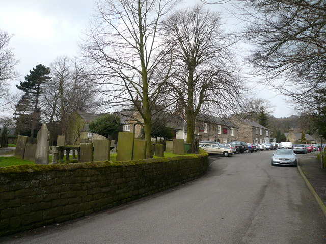 Ashover - Church Street view towards The Crispin Inn