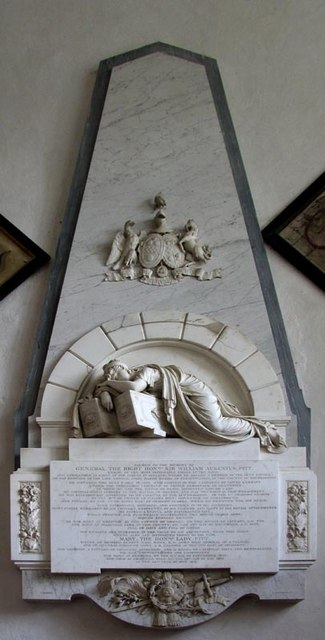 St Michael, Heckfield, Hants - Wall monument