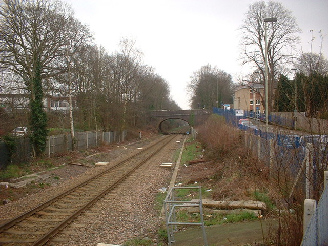 View from the end of the platform towards Eastleigh