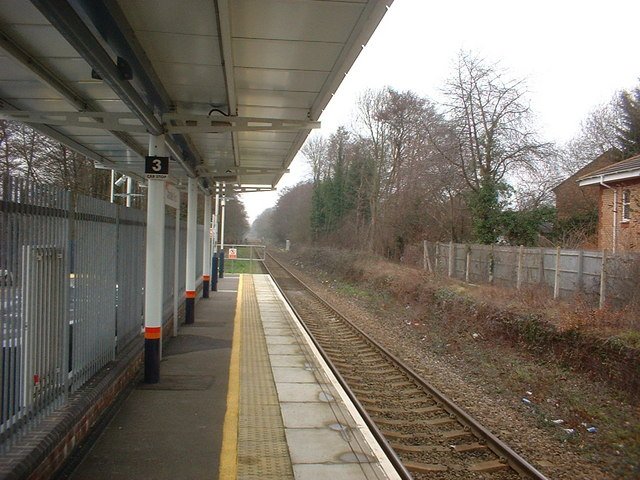 View from platform towards Romsey