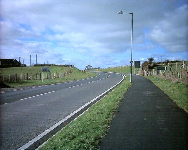 A497 at Afonwen. New road  to Pwllheli