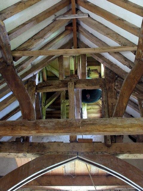All Saints, Little Somborne, Hants - Roof & Bell