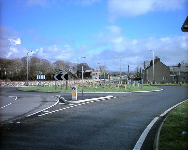 Completed new roundabout at Afonwen