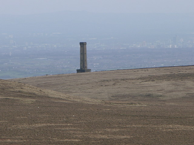 Peel Monument from Bull Hill