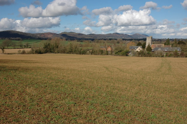 The Malvern Hills viewed from Berrow