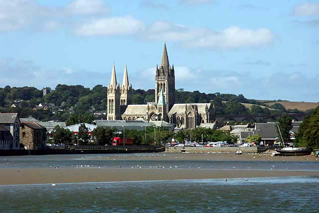 Truro Cathedral taken from Boscawen Park