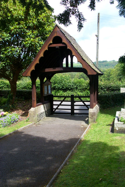 Lych gate, St. Matthew's Church, Dyffryn