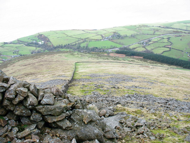 The North -Western slope of Gyrn Goch viewed from the summit
