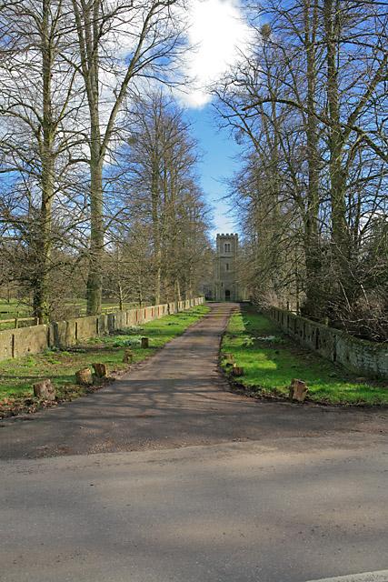 Cul de sac to St Andrews Church, Hurstbourne Priors