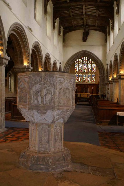 The famous Font at All Saints