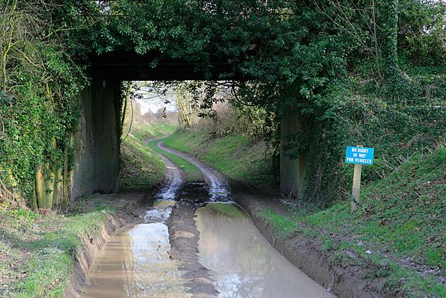 Firgo Lane passing under bridge of dismantled railway