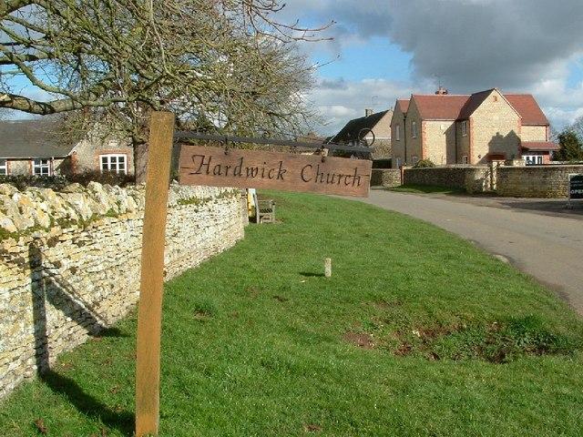 Hardwick Church sign